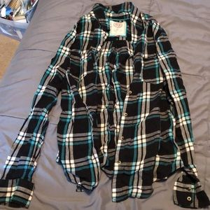 SO brand flannel button up shirt